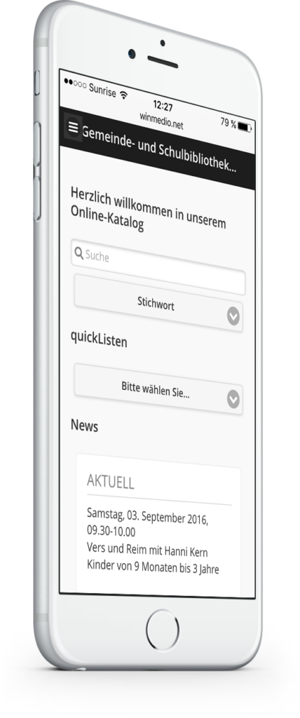 Online-Katalog Bibliothek Windisch Mobile Version